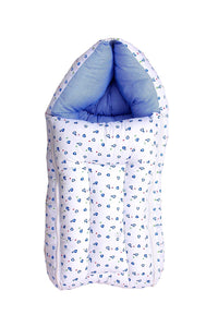 Fareto Baby Sleeping Bag cum Baby Carry Bag (Blue)