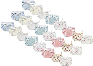 Fareto New Born Baby Cloth Diaper - Multi Color  (Pack Of 24)