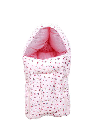 Fareto Baby Sleeping Bag cum Baby Carry Bag (Pink)