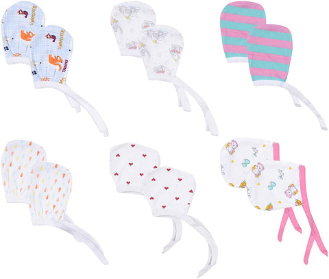 Fareto  Baby Mittens Set of 6, Multi-Coloured