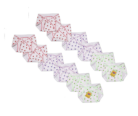 Fareto Newborn baby Hosiery cotton cloth nappies pack of 12 pcs (Multi Colours)