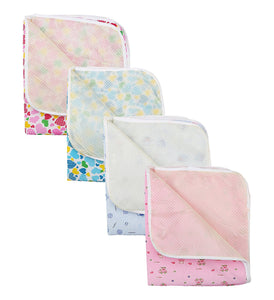 Fareto Baby One Sided Cloth Changing Mat (Unisex, 0-6 Months, Pack of 4)(Size-20*22 Inchs)