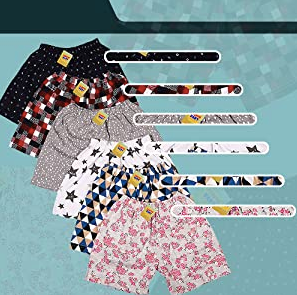 Fareto Baby Hosiery Cotton Shorts - Pack of 6