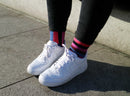 Pink and Purple Odd Striped Socks