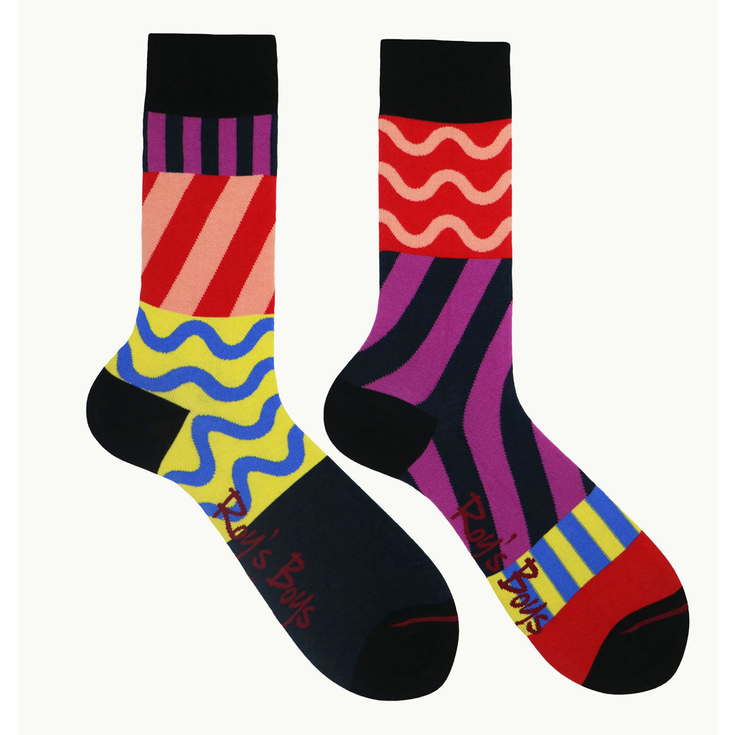 Purple Patterned Odd Socks UK