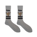 Crash Bandicoot Grey Sports Socks