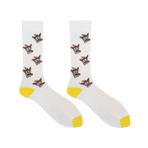 Crash Bandicoot White Sports Socks