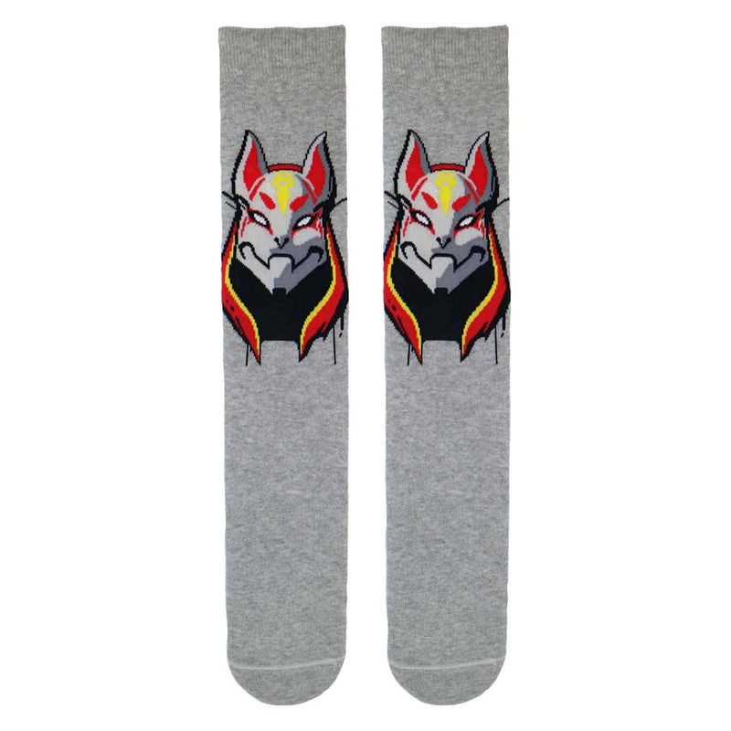 Fortnite Grey Socks with Drift Cat Skin