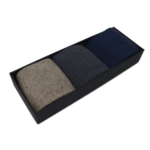 Plain Marls Cashmere Luxury Box - 3 Pairs