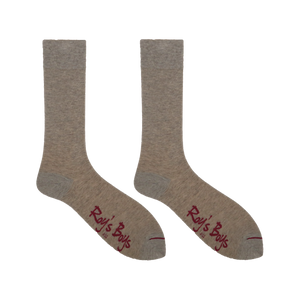 Oatmeal Marl Luxury Cashmere Blend Socks