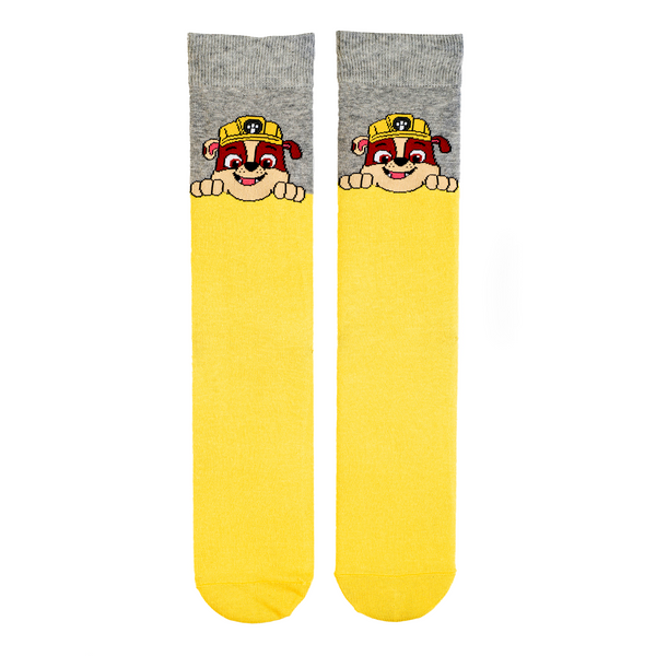 "Paw Patrol Rubble ""Dad"" Adult Socks"
