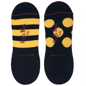 Black and Yellow Invisible Odd Socks