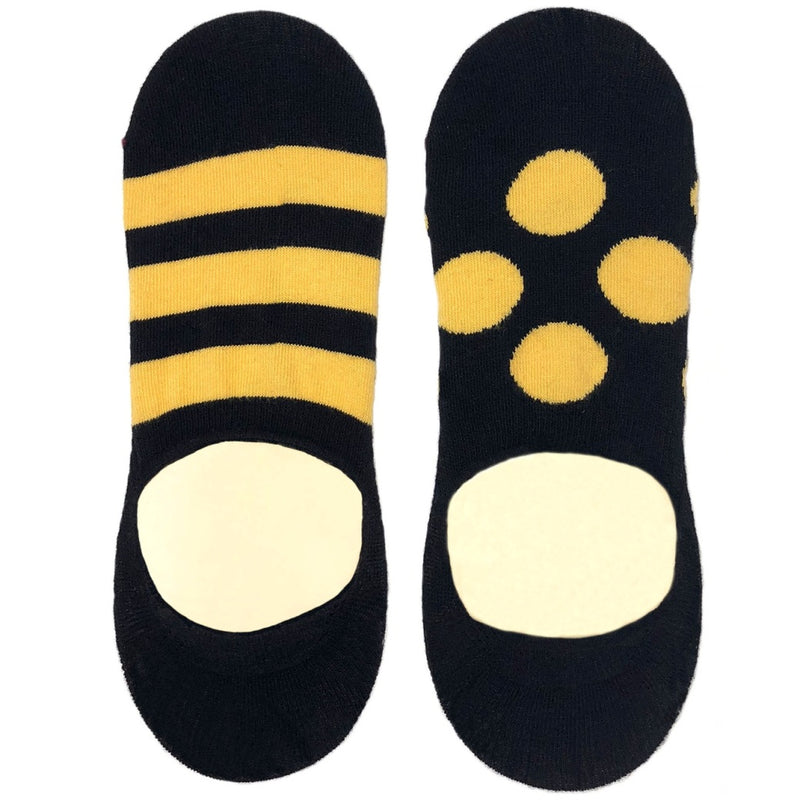 Black and Yellow Odd Invisible socks - no show