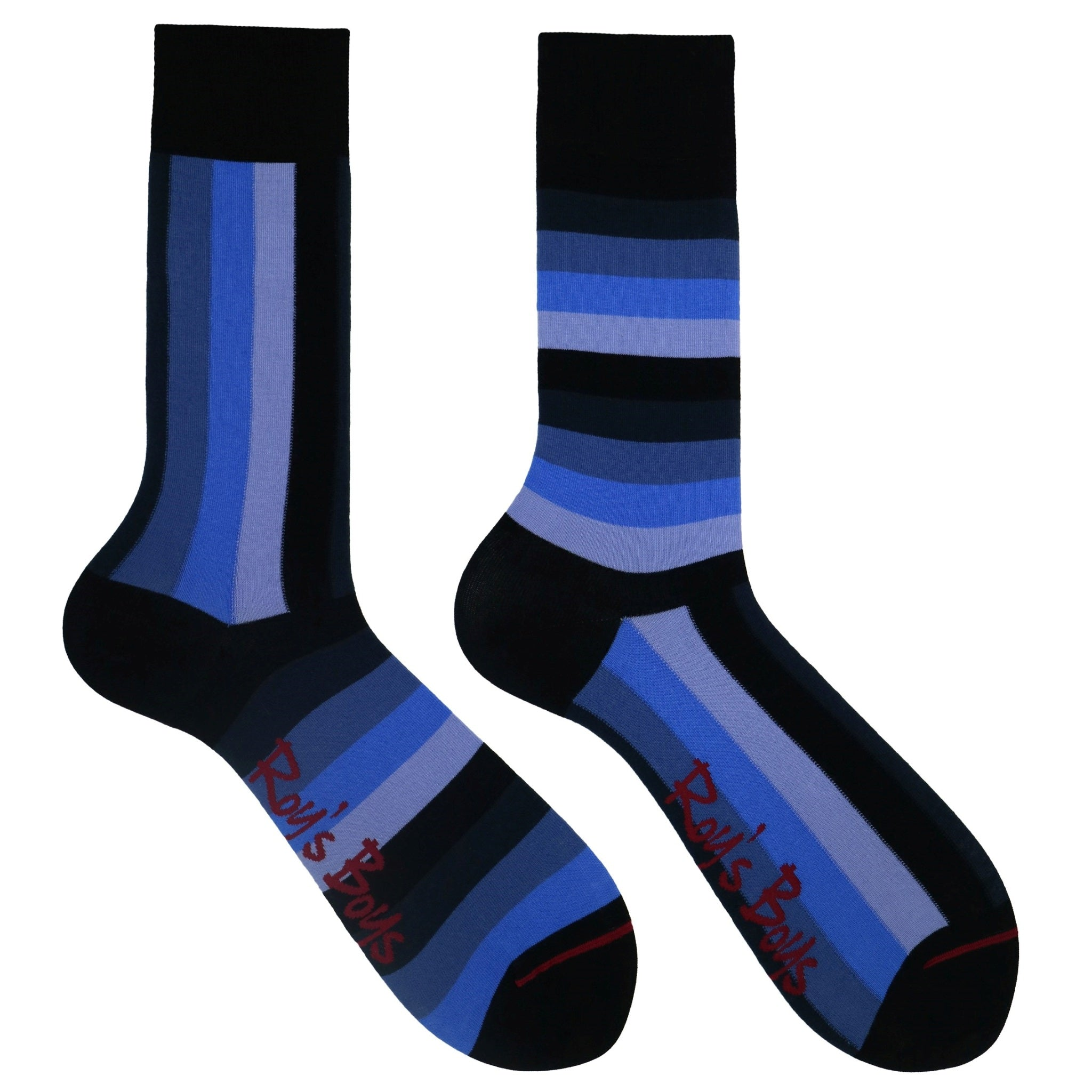 Navy Blue Striped Sock