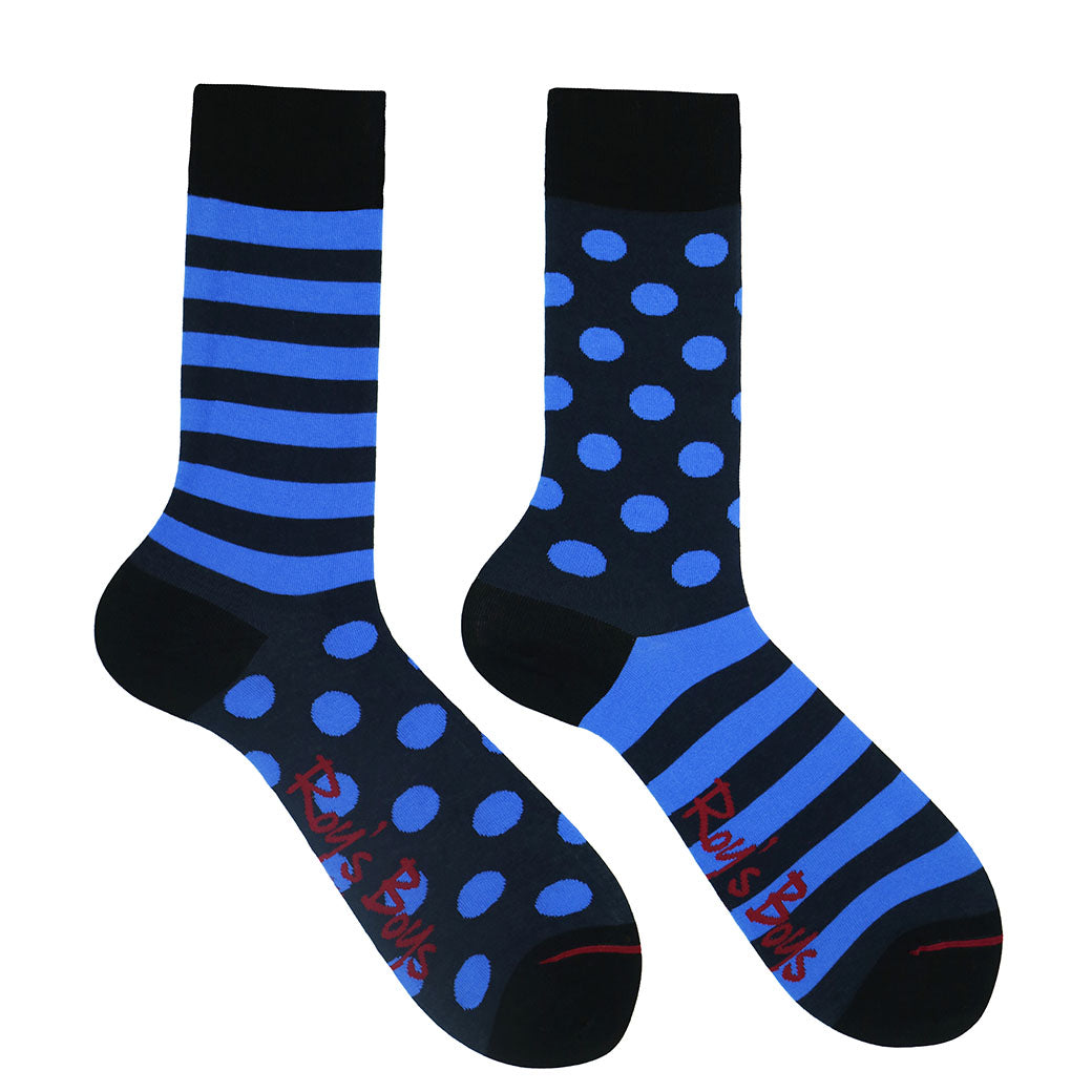 Navy and Royal Blue Odd Socks