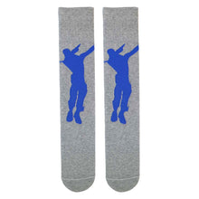 Fortnite Grey Socks with Dabbing Image
