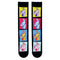 Black Fortnite Socks with Llama Image on