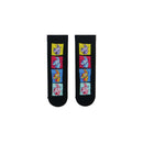 Black Fortnite llama Socks with yellow, red, blue llama