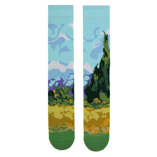 Vincent van Gogh - A Wheatfield, with Cypresses Art Socks