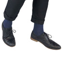 Navy Marl Luxury Cashmere Blend Socks