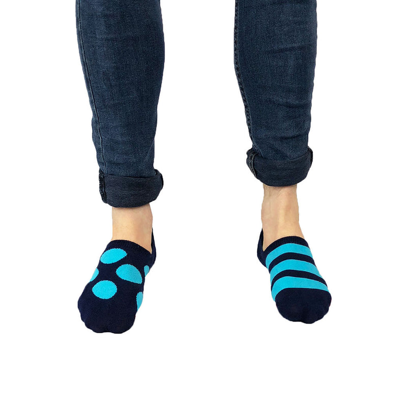 Blue and Aqua Invisible Odd Socks