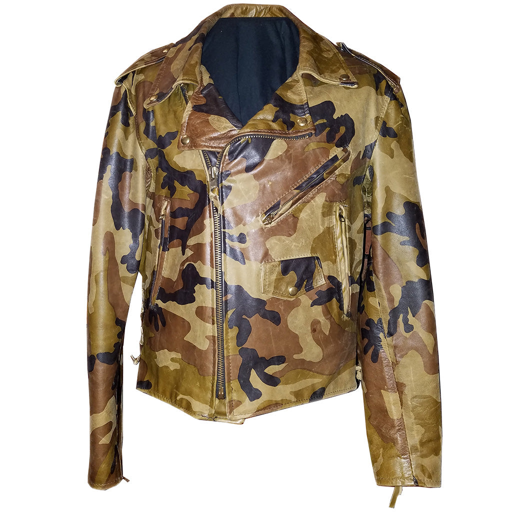 Camouflaj Leather MC Jacket