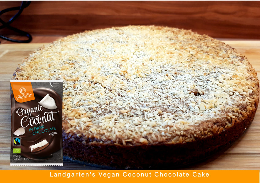 Landgarten's Vegan Coconut Chocolate Cake
