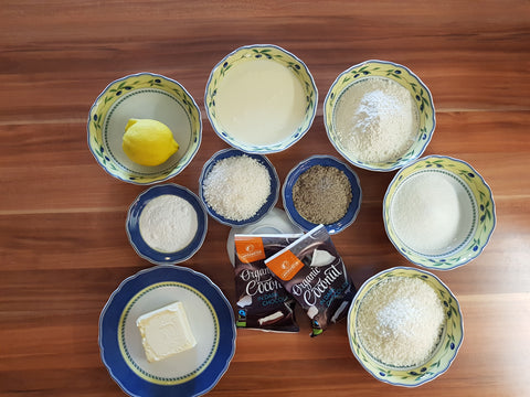 Ingredients Vegan Coconut Cake