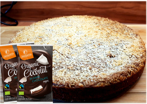 Landgarten Vegan Coconut Dark Chocolate Cake 2