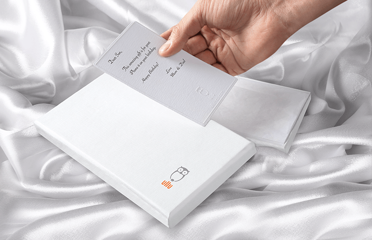 Personalized message, printed on high quality paper card.