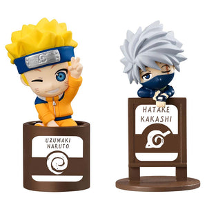 Pack de 2 mini-figurines Naruto (série pack Kakashi & I JS)