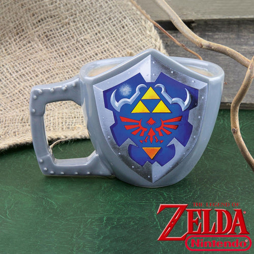 Mug The Legend of Zelda : bouclier Hylia en 3D