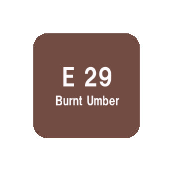 .Too COPIC sketch E29 Burnt Umber