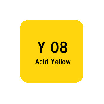 .Too COPIC sketch Y08 Acid Yellow