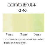 .Too COPIC sketch G40 Dim Green
