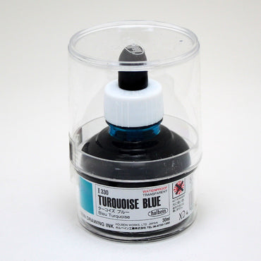 Drawing ink holbein I330 bleu turquoise 30ml