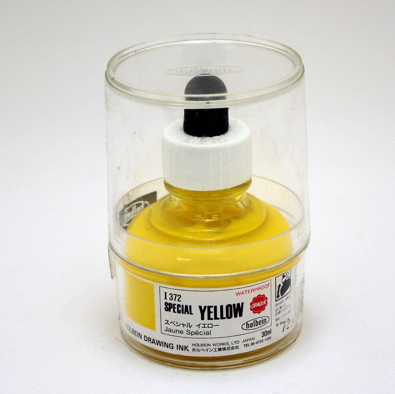 Drawing ink holbein I372 jaune spécial 30ml