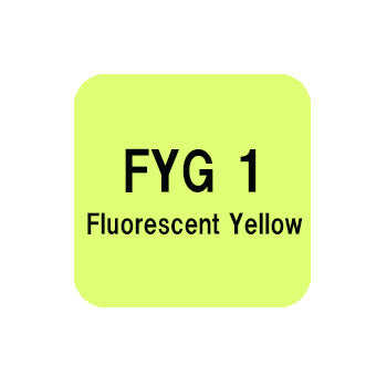 .Too COPIC sketch FYG1 Fluorescent Yellow
