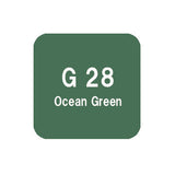 .Too COPIC sketch G28 Ocean Green