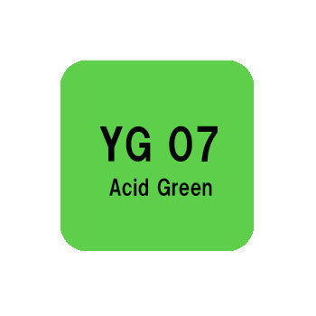 .Too COPIC sketch YG07 Acid Green