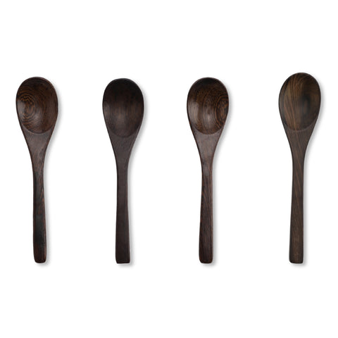 Ebony wood spoon: 4stk