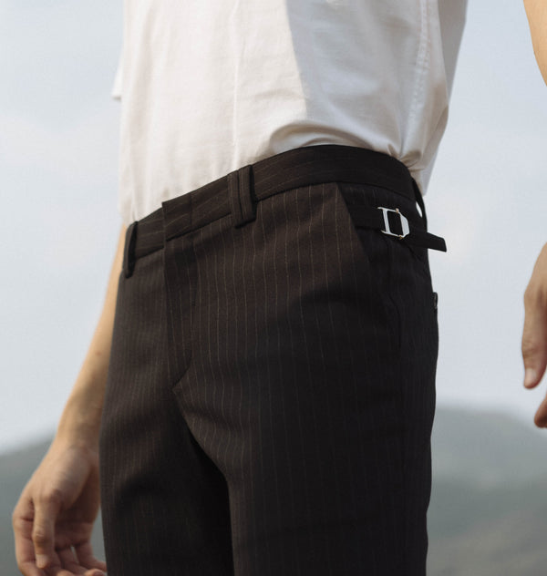 Black stripe with side adjuster trousers