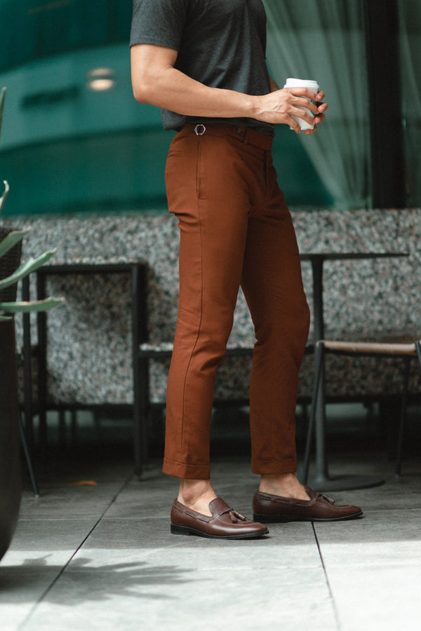 Brick - tapered trousers with adjustable waist