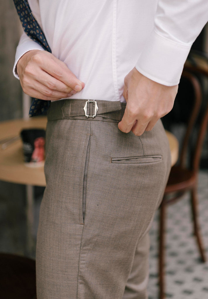 Olive - ridley double belt trousers