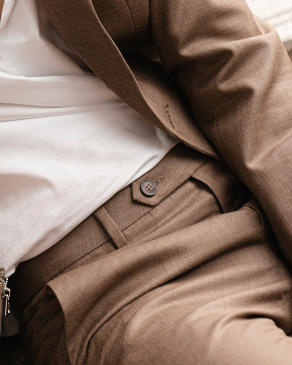 Cedar - regular wool trousers
