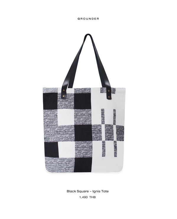 Black Square - Ignis Tote Bag
