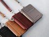 Burgundy leather card holder lanyards
