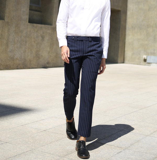 Pin stripe trousers