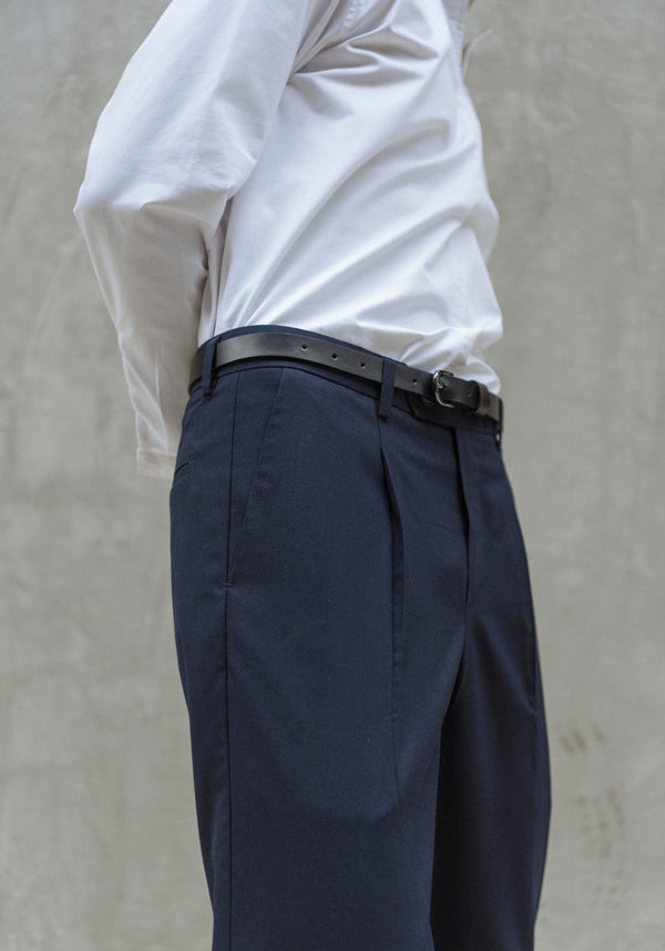 Navy - Wide leg trousers