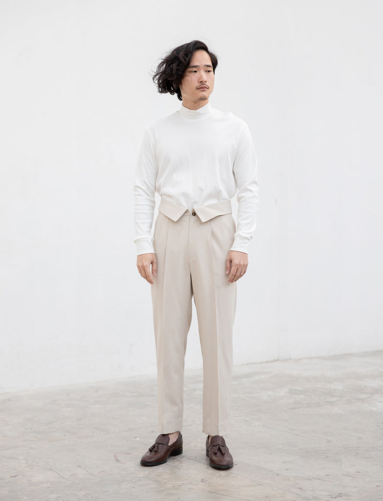 Beige Wool Samson Trousers